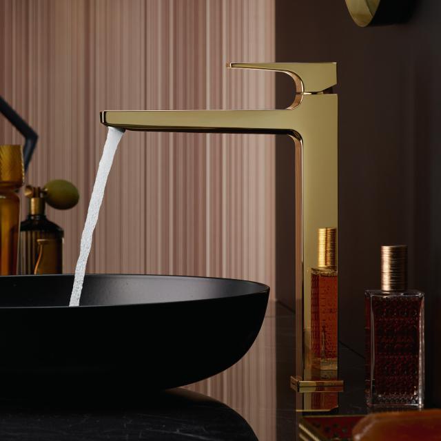 Hansgrohe Metropol Einhebel-Waschtischmischer 260, mit Zungengriff, mit Ablaufgarnitur gold