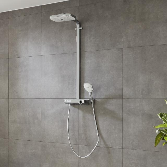 Hansgrohe Raindance Select E 300 3jet ShowerTablet Showerpipe weiß/chrom