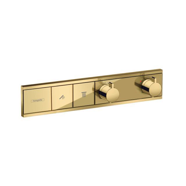 Hansgrohe RainSelect Thermostat für 2 Verbraucher, Unterputz gold