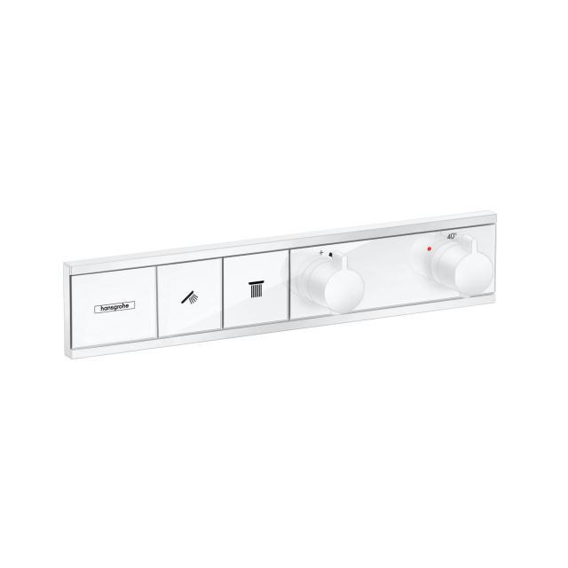 Hansgrohe RainSelect Thermostat für 2 Verbraucher, Unterputz weiß matt/weiß glanz