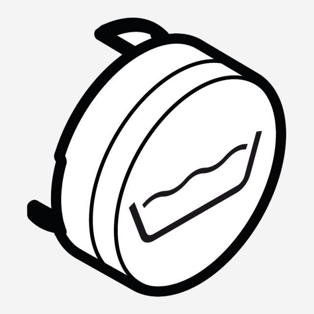Hansgrohe ShowerSelect Druckknopf Symbol schwarz