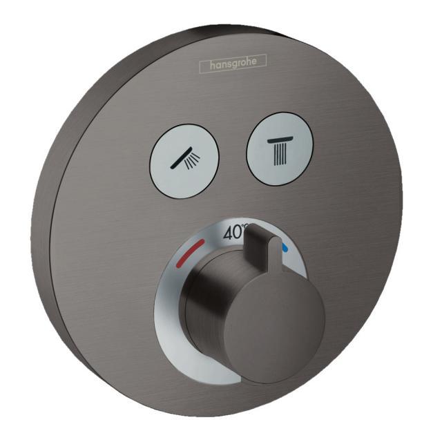 Hansgrohe ShowerSelect S Thermostat Unterputz, für 2 Verbraucher schwarz chrom gebürstet