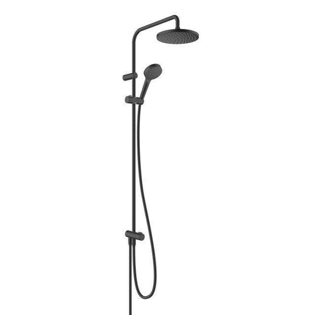 Hansgrohe Vernis Blend 200 1jet Showerpipe Reno schwarz matt