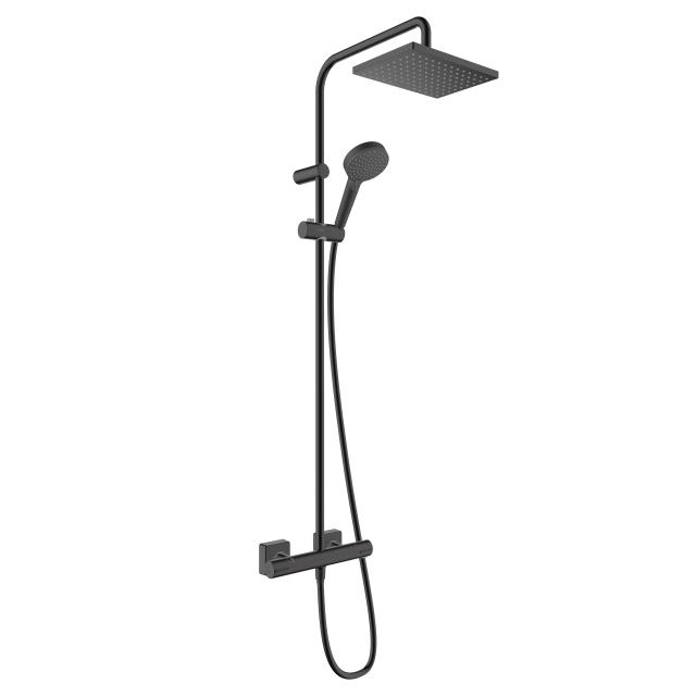 Hansgrohe Vernis Shape 230 1jet Showerpipe mit Brausethermostat schwarz matt