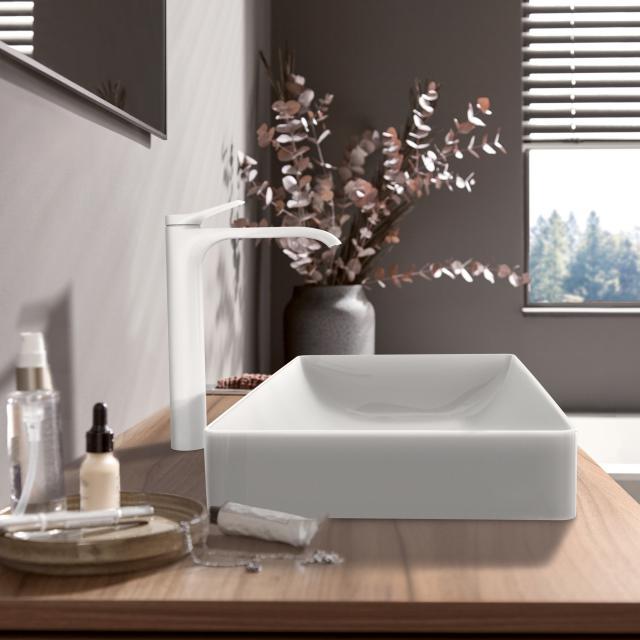 Hansgrohe Vivenis Einhebel-Waschtischmischer 250 für Waschschüsseln weiß matt, ohne Ablaufgarnitur