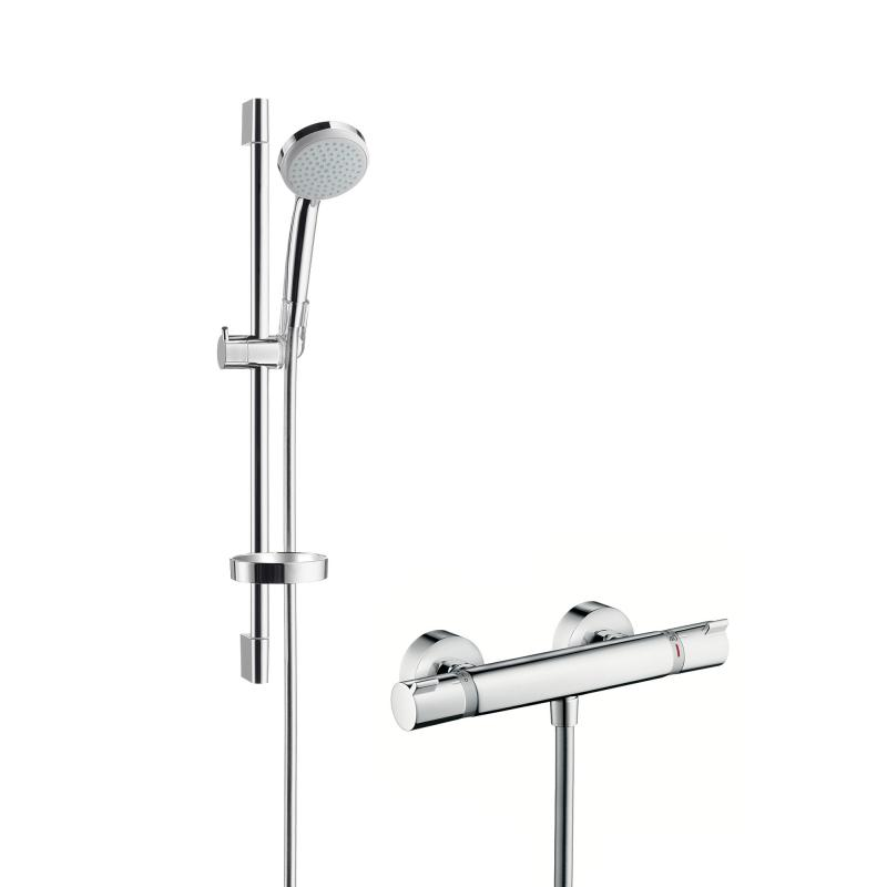 Neu Hansgrohe Croma 100 Vario / Ecostat Comfort Combi 650 mm, DN15  DY19
