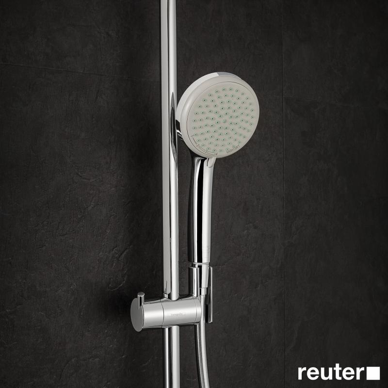 hansgrohe croma 220 air 1jet showerpipe 27185000 reuter. Black Bedroom Furniture Sets. Home Design Ideas
