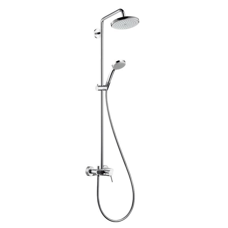 hansgrohe croma 220 air 1jet showerpipe mit einhebelmischer 27222000 reuter. Black Bedroom Furniture Sets. Home Design Ideas