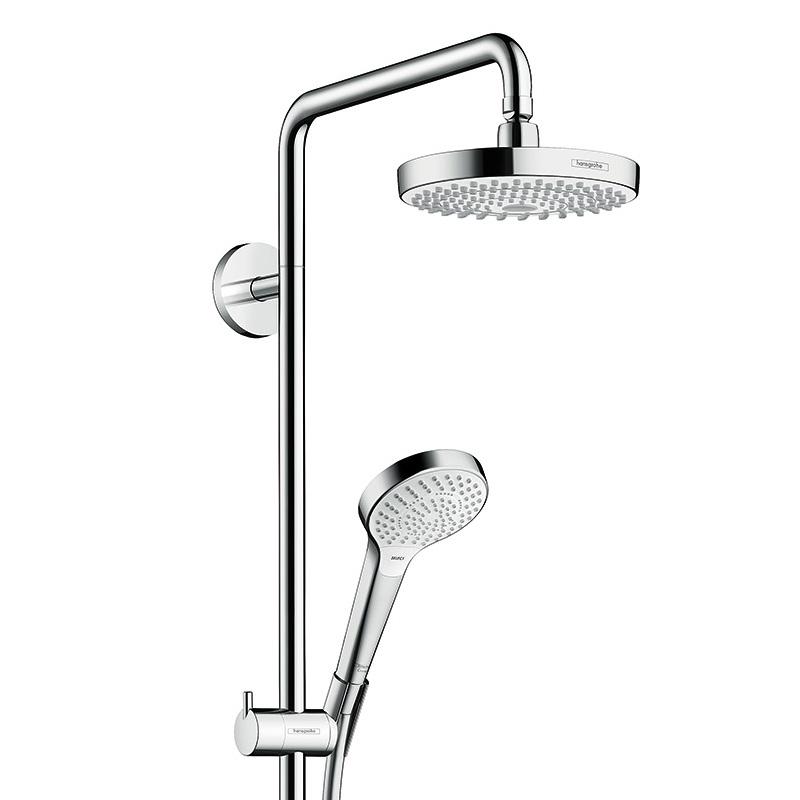 hansgrohe croma select s 180 2jet showerpipe mit einhebelmischer 27255400 reuter. Black Bedroom Furniture Sets. Home Design Ideas