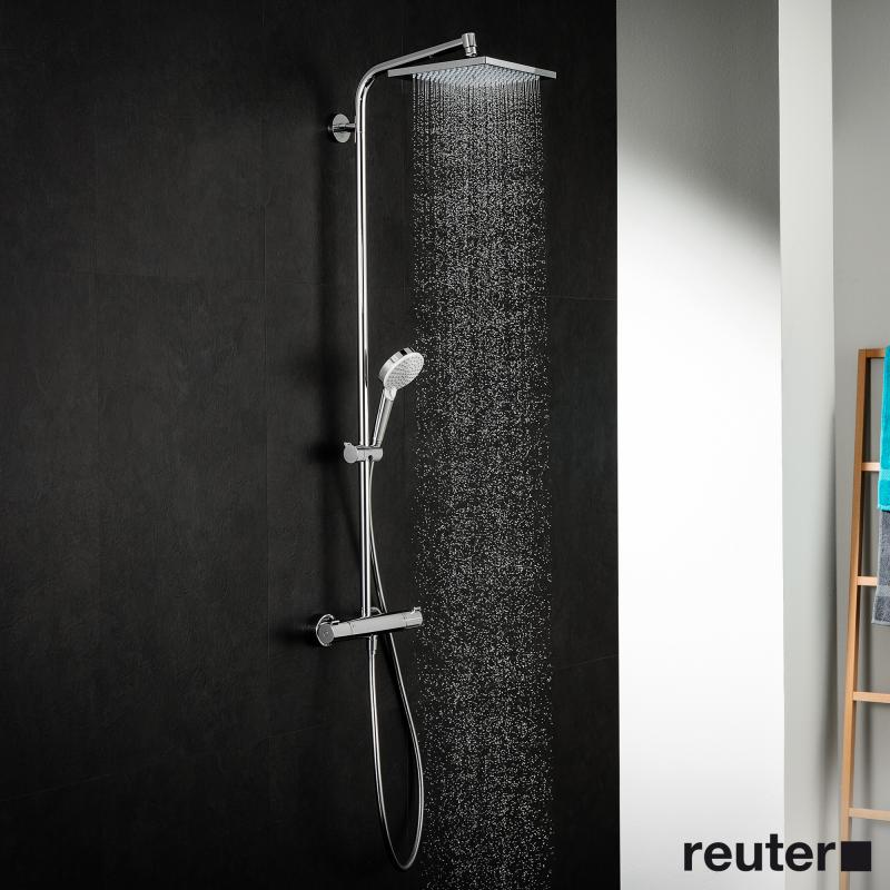 hansgrohe crometta e 240 1jet showerpipe chrom 27271000. Black Bedroom Furniture Sets. Home Design Ideas