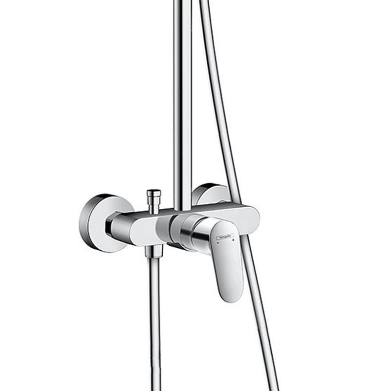 hansgrohe crometta s 240 1jet showerpipe mit einhebelmischer chrom 27269000 reuter. Black Bedroom Furniture Sets. Home Design Ideas
