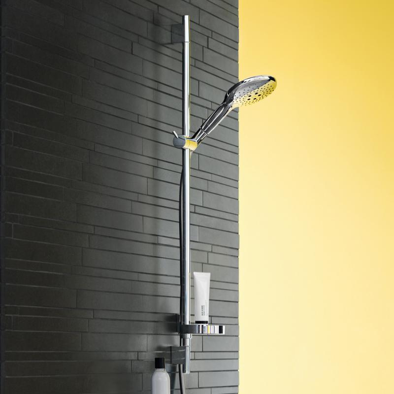 hansgrohe raindance select s 150 3jet handbrause unica 39 s puro brausestange 900 mm set chrom. Black Bedroom Furniture Sets. Home Design Ideas