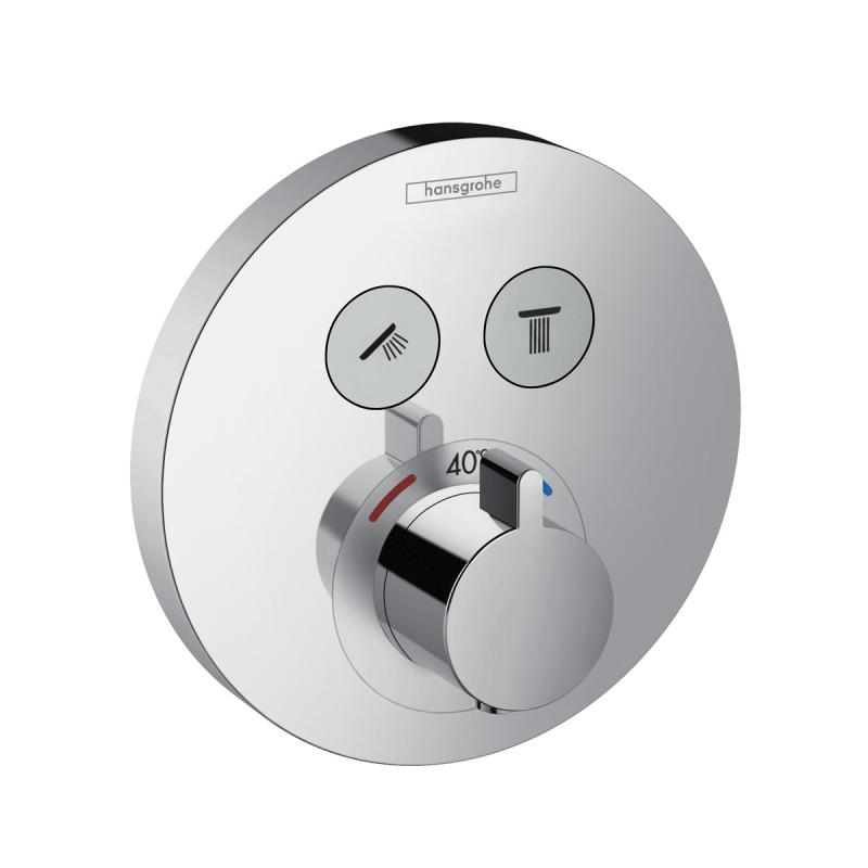 hansgrohe showerselect s thermostat unterputz f r 2 verbraucher 15743000 reuter. Black Bedroom Furniture Sets. Home Design Ideas