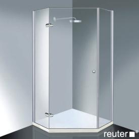 Reuter Kollektion Medium Neu Fünfeck mit 1 Drehtür chrom/silber hochglanz WEM 985-1000 Festt. 520
