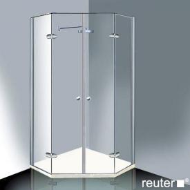 Reuter Kollektion Medium Neu Fünfeck mit 2 Drehtüren chrom/silber hochglanz WEM 869-884 Festt.396