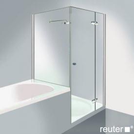 Reuter Kollektion Medium Neu Tür mit verkürzter Seitenwand chrom/silber hochglanz WEM 769-784 Festt.134/725
