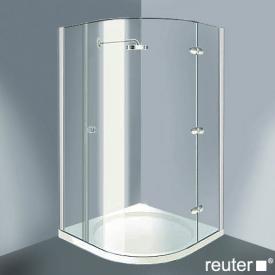 Reuter Kollektion Medium Neu Viertelkreis mit 1 Drehtür chrom/silber hochglanz WEM 785-800 Festt.255/150