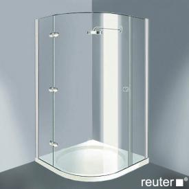 Reuter Kollektion Medium Neu Viertelkreis mit 1 Drehtür chrom/silber hochglanz WEM 869-884Festt.298/234