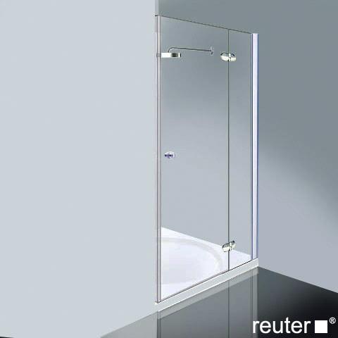 Reuter Kollektion Medium Neu Tür in Nische ESG klar mit PerlClean/chrom-silber hochglanz