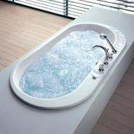 Hoesch FOSTER Oval Whirlwanne L: 190 B: 98 H: 45 cm, mit Deluxe Whirl-Air Whirlsystem
