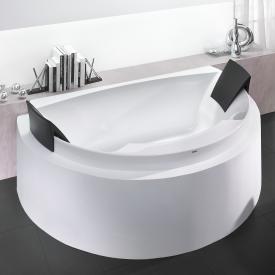 Hoesch AVIVA Badewanne, halbrund mit 2 Rückenstützen weiß