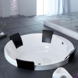 Hoesch AVIVA Runde Badewanne mit 4 Rückenstützen weiß