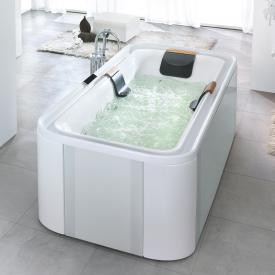 Hoesch ERGO freistehender Whirlpool Verkleidung: Acryl weiß/Glas silber