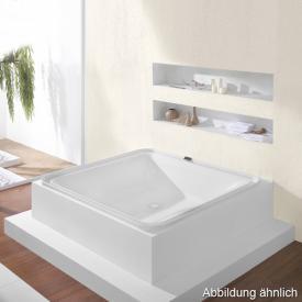 Hoesch ERGO freistehender Whirlpool Verkleidung: Acryl weiß/Glas weiß