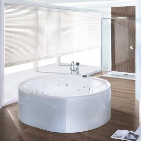Hoesch ERGO Oval Whirlpool, freistehend L: 200 B: 160 H: 48 cm, Glas: weiß Verkleidung: Acryl weiß/Glas weiß