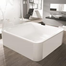 Hoesch ERGO Rechteck-Badewanne, freistehend weiß, Verkleidung: Acryl weiß/Glas weiß