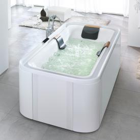 Hoesch ERGO Rechteck Whirlpool, freistehend L: 207,5 B: 107,5 H: 48 cm, Glas: weiß Verkleidung: Acryl weiß/Glas weiß