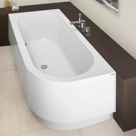 Hoesch HAPPY D Eck Badewanne mit Schürze, Ausführung links weiß