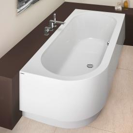 Hoesch HAPPY D Eck Badewanne mit Schürze, Ausführung rechts weiß