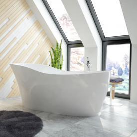 Hoesch NAMUR LOUNGE Freistehende Oval-Badewanne weiß