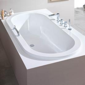 Hoesch SCELTA Oval-Badewanne, Überlauf links weiß