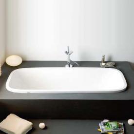 Hoesch SINGLEBATH Uno Oval-Badewanne weiß