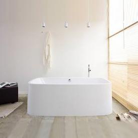 Hoesch SINGLEBATH Uno Badewanne, oval, freistehend weiß
