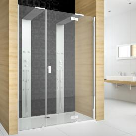 Hoesch THASOS for two Duschwand m. Duschsäule für Nische