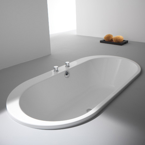 Hoesch FOSTER Oval-Badewanne, Einbau weiß