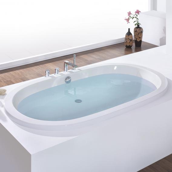 Hoesch WAIKIKI Oval-Badewanne, Einbau weiß