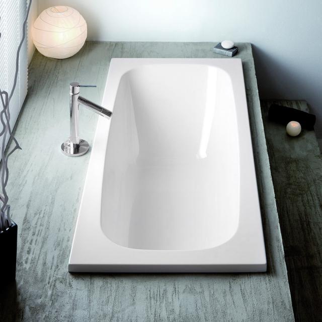 Hoesch CAPRI Rechteck-Badewanne, Einbau weiß