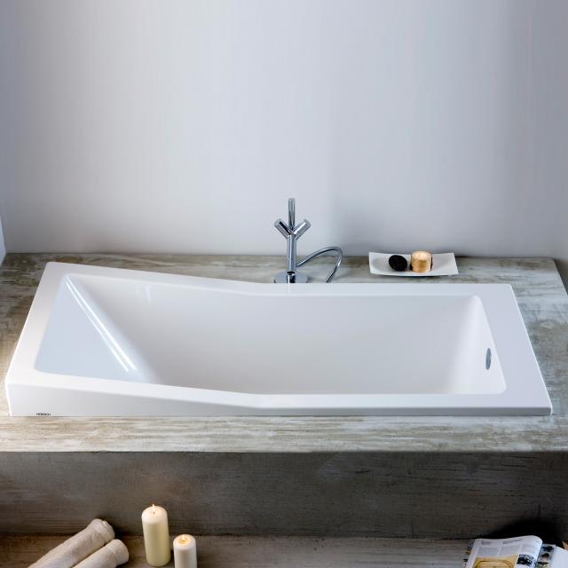 Hoesch FOSTER Rechteck-Badewanne, Einbau weiß