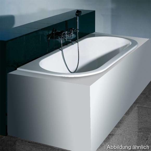 Hoesch HAPPY D Halbrunde Vorwand-Badewanne weiß
