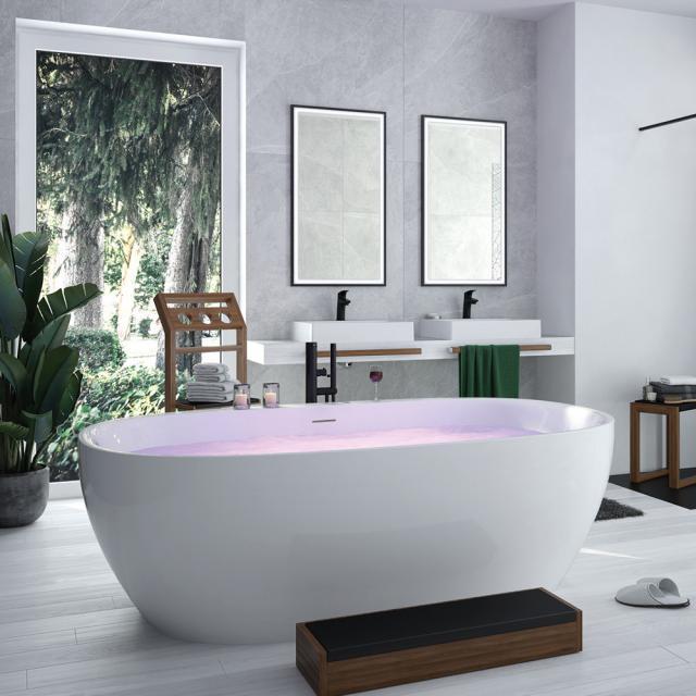 Hoesch iSENSI Freistehende Oval-Badewanne ohne Wanneneinlauf