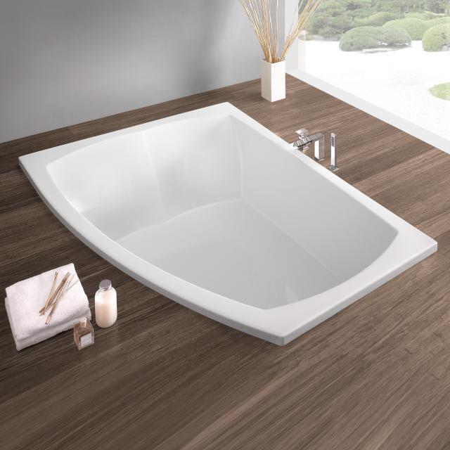 Hoesch LARGO Eck-Badewanne, Einbau weiß