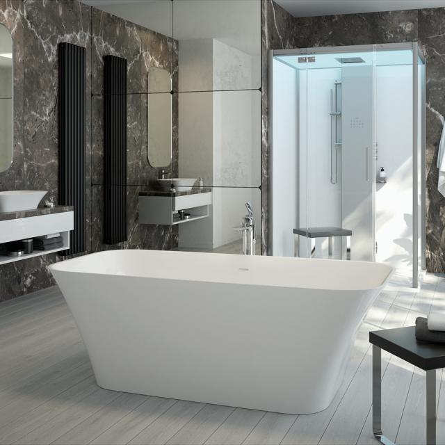 Hoesch LEROS Freistehende Oval-Badewanne weiß matt