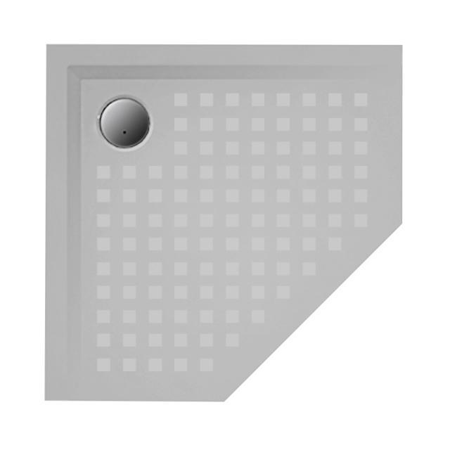 Hoesch MUNA Fünfeck-Duschwanne telegrau, mit SoliquePRO Rutschhemmung
