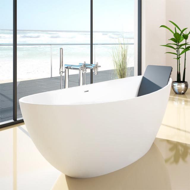 Hoesch NAMUR Freistehende Oval-Badewanne weiß matt