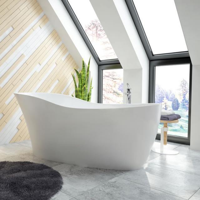 Hoesch NAMUR LOUNGE Freistehende Oval-Badewanne weiß matt
