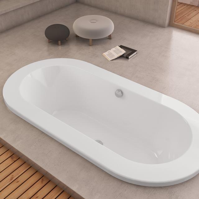 Hoesch PHILIPPE STARCK Edition 1 Oval-Badewanne, Einbau weiß